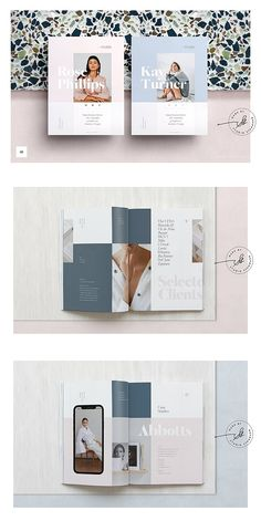 Design layout brochure brocher 42 Ideas for 2019 Portfolio Covers, Portfolio Book, Portfolio Layout, Creative Portfolio, Portfolio Design, Company Portfolio, Brochure Layout, Brochure Design, Brochure Template