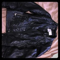 Leather Jacket By Jessica Simpson Small New Jessica Simpson Leather inspired jacket (not actual leather) - Excellent condition Jessica Simpson Jackets & Coats Utility Jackets