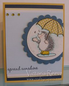 Crafty Capers Rubber Stamps: Hedgie Friends