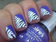 Half Zebra half plain colored. I'm thinking a hot pink instead of purple??