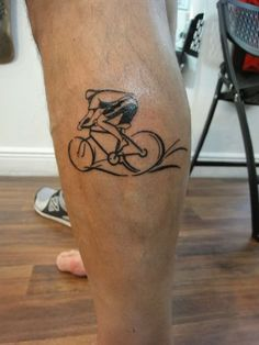 Ready for the Tour de France Tattoo - http://www.tattooideascentral.com/ready-tour-de-france-tattoo/