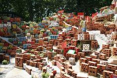 morrinho project (brazil/TWS) Venice 2007 Childhood Games, Recycled Materials, Venice, Brazil, The Neighbourhood, Brick, Recycling, Construction, Projects