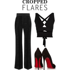 velvet pants by hannebld on Polyvore featuring Proenza Schouler, Sonia Rykiel, Christian Louboutin, women's clothing, women's fashion, women, female, woman, misses and juniors