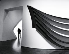 Guarding the portal at the Milwaukee Art Museum