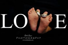 Newborn photography photo idea / pose: focus on baby's feet with wedding rings. LOVE idea. Houston newborn photography. Boy / Girl baby.