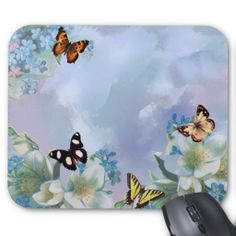 Butterflies and Blues Mouse Pads
