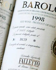 2003 Bruno Giacosa Falletto Barolo Nebbiolo Piedmont Italy