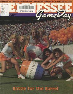 The Tennessee Football Programs: 1986 Football Program - UT vs Kentucky Ut Football, Tennessee Football, University Of Tennessee, Football Program, College Football, Neyland Stadium, Go Vols, Bowl Game, Tennessee Volunteers