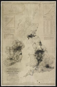 Map of UK population density based on the 1841 series.