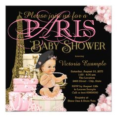 African american princess girl baby shower banner baby gifts girls paris baby shower invitations black gifts unique cool diy customize personalize negle Gallery