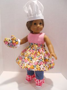 American Girl Doll Clothes Valentines Conversation Hearts Baking Set 18 Inch Doll Accessories