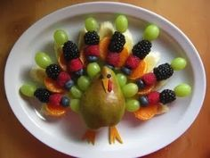 turkey made out of vegetables | will be a welcome treat with these turkey shaped fruit kebabs made ...