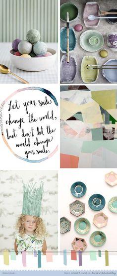 Mooie mix van kleuren... mood board