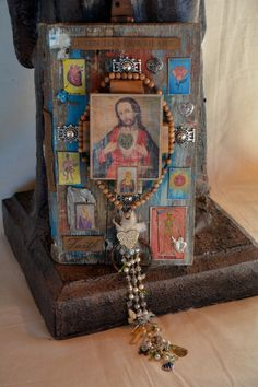 Sacred Heart and Jesus- Milagro Shrine- By Cuban artist- Lazaro Iglesias- Inquire for price.. SOLD