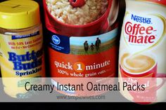 Creamy Instant Oatmeal Packs