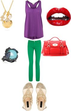 """""""ariel Disney inspired outfit"""" by katiebutler2000 ❤ liked on Polyvore"""