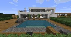 Modern Mansions and some boats Minecraft Map Minecraft Mods, Minecraft Building Guide, Minecraft Images, Minecraft Houses Survival, Amazing Minecraft, Minecraft Houses Blueprints, Cool Minecraft Houses, House Blueprints, Minecraft Modern Mansion