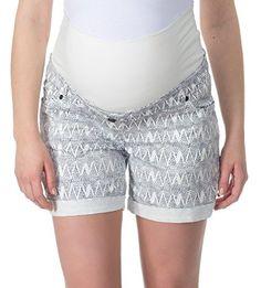 bellybutton Schwangerschaftsmode Damen Bermuda JOHANA - Shorts, Mehrfarbig (allover 0003), 46