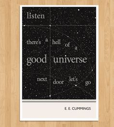 Illustrated E. E. Cummings Quote Print | Art Prints | Obvious State Studio | Scoutmob Shoppe | Product Detail