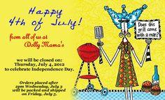LOVE www.dollymamas.com - Happy 4th of July!
