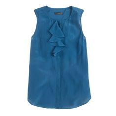 Silk ruffle blouse : new arrivals | J.Crew
