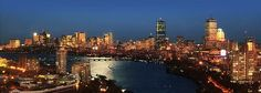 Boston skyline from Student Village II at Boston University Boston Skyline, Best Vacation Spots, Best Vacations, Places In Boston, List Of Cities, Greater Boston, Green Street, Boston Massachusetts, Places To Visit