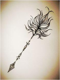 Arrow tattoo My inspiration tonight My own design! - Arrow tattoo My inspiration tonight My own design! Feather Tattoos, Body Art Tattoos, I Tattoo, Sleeve Tattoos, Cloud Tattoos, Tatoos, Arrow Tattoos For Women, Dragon Tattoo For Women, Trendy Tattoos
