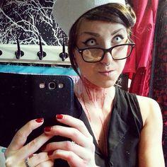 #tb #halloween #costume #crazylenses #whiteout #contactlenses #whiteeyes #ahoy #sailor #fakeblood #blood #alternative #creepy #piercing #piercedgirls #septum #costume #halloweencostume #cybershop #cybershopkamppi #kamppi Halloween 4, Halloween Costumes, Piercings For Girls, Fake Blood, White Eyes, Cyber, Sailor, Photo And Video, Septum