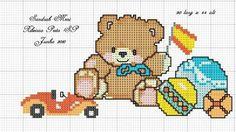 Ponto cruz urso