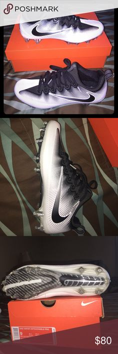 "Nike football cleats ""White"" Nike Vapor Untouchable Pro football Cleats size 9  Only worn 2 times. Too small.  Paid $120. On Nike.com  Asking $70 Nike Shoes Athletic Shoes"