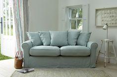 Duck-egg blue living room. Living room