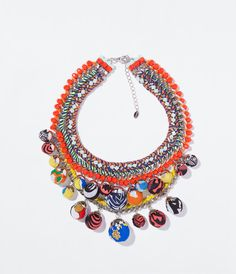 CHAIN AND BEADS NECKLACE from Zara