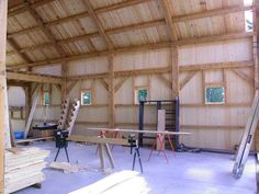 A gallery of barns and other agricultural buildings. post and beam construction, mortise and tenon joinery, luxury horse stables and solid wood timbers. Woodworking Guide, Custom Woodworking, Woodworking Projects Plans, Garage Apartment Plans, Garage Apartments, Pool House Plans, American Barn, Agricultural Buildings, Build Your Own House