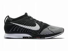 best service 87f9a e72c2 Officiel Nike Flyknit Racer Chaussure de Running Nike Mixte Pas Cher Pour  Homme Noir Blanc 526628-002