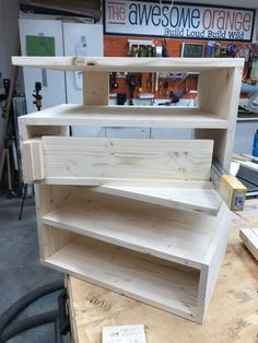 Making sure that all the components were cut properly before assembly of drawer boxes. #drawers #diy #woodworking Diy Furniture Plans, Do It Yourself Projects, Woodworking Projects Diy, Floating Nightstand, Bookcase, Drawers, Boxes, Shelves, How To Plan