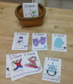 I Have, Who Has- Winter Words - Winter Montessori