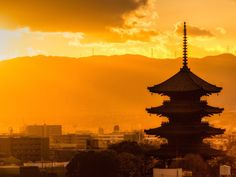 The pagoda of Toji Temple towers over the skyline of Kyoto. The former national capital was chosen as the world's best city by Travel + Leisure magazine for the second year in a row. Best Places To Travel, Best Cities, Places To Go, Kyoto, Site Classé, Prix Nobel, Sea Of Japan, Skyline Silhouette, Traditional Landscape