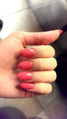 Pink almond nails!