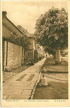 The Pavement, North Curry, Somerset, England. Inter-War (1918-39). Some of my ancestors were from North Curry - if you're researching the Denman, Broom or Baskett families, do get in touch! esjones <at> btopenworld.com