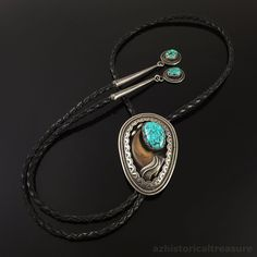 NAVAJO HANDMADE STERLING SILVER TURQUOISE & CLAW BOLO TIE by TEDDY GOODLUCK   | eBay