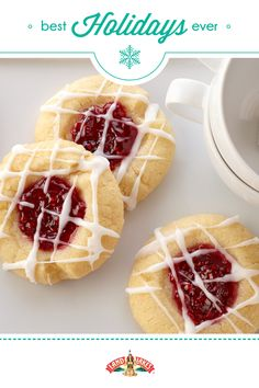 Use your favorite jam to fill these buttery, melt-in-your-mouth thumbprints.