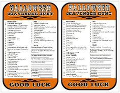 *Rook No. 17: recipes, crafts & whimsies for spreading joy*: How to Host a Halloween Scavenger Hunt Party