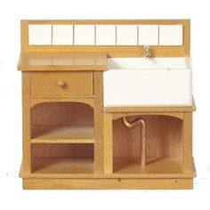 Dollhouse-Miniature-1-12-Scale-Small-Country-Sink-by-Town-Square-Miniatures