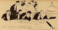 Sem - Caricature - Une table à Monaco - 1900