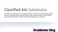 High PR Classified Submission Site List