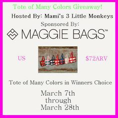 Blogger Opp - Maggie Bags - Tote of Many Colors