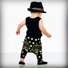 Unisex Dots -N- Fangs pants for your fashionable little one! #lilfirefly#kidsfashion#harempants