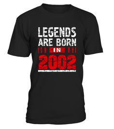 "CHECK OUT OTHER AWESOME DESIGNS HERE!     Legends Born In 2002 T-Shirt is one of the 15 Years Old Birthday Gift Idea for Boys and Girls made in 2002 year. This tee shirt is really cute birthday gift tor a teen and we have same tshirt for different years of born so click on the brand name ""Birthday Teenager Gift Idea Shirts""   Look for a cool vintage 2002 birth year t-shirt gift then this awesome 15 yrs old girl and boy shirt is for you. This tee truly is a Perfect 15th Birt..."