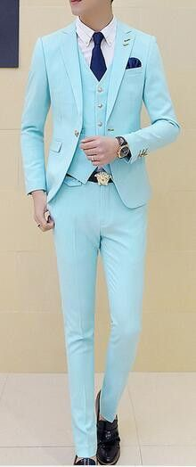 a0c427d67cf 3 pieces (Jacket+Vest+Pant) Boys Terno Prom Suits With Pants Mens Yellow Wedding  Suit for Men Korea Slim Fit Party Dress Costume