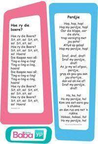 Hier's die woorde van al die ou bekende Afrikaanse rympies en liedjies, in pragtig ontwerpte drukstukke deur Baba & Kleuter! Preschool Songs, Preschool Education, Preschool Printables, Classroom Activities, Afrikaans Language, Kids Poems, Baby Songs, Kindergarten Lessons, Thing 1